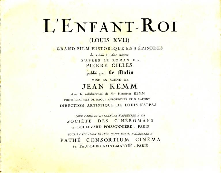 l'Enfant-Roi film de Jean Kemm 1923 02