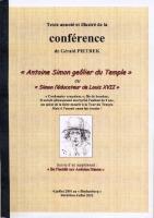 Ouvrage des membres Antoine Simon Geôlier de Louis XVII ou Simon l'éducateur de Louis XVII Gérald Pietrek
