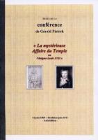Ouvrage des membres La Mystérieuse Affaire du Temple ou l'Affaire Louis XVII Gérald Pietrek