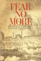 Ouvrages en langue �trang�re Fear no more Hester W. Chapman